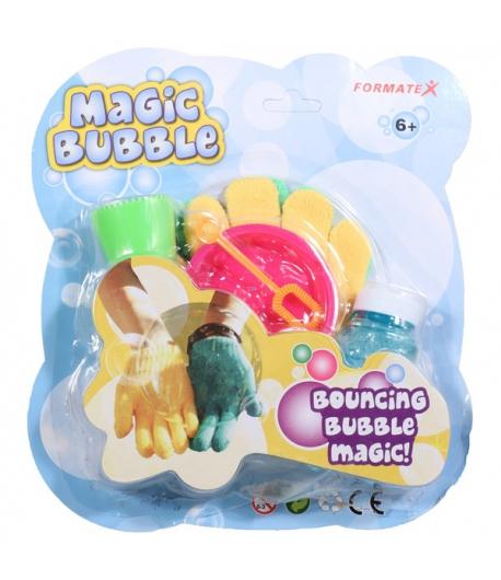 Magic Bubble buborékfújó színes kesztyűvel