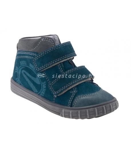 SIESTA RICHTER sötét türkiz/szürke 2 tépős velúr bőr cipő 20-as
