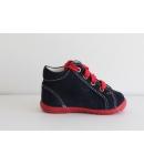 SIESTA RICHTER kék piros PUZZLE fűzős velúr bőr cipő