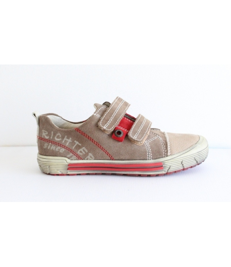 Siesta Richter 2 tépős barna/piros cipő