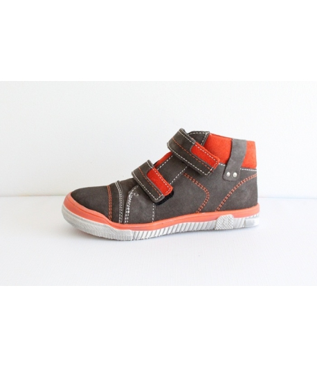 SIESTA RICHTER 2 tépőzáras barna/narancs velúr bőr cipő 26-os
