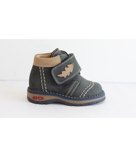 Siesta kék nubuk magasszárú cipő 18-as ESZTÉTIKAI HIBÁS
