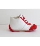 Siesta piros/fehér Nubuk/nappa fűzős magagszárú cipő 22-2es