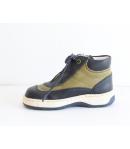 Siesta s.kék/zöld bébi bőrcipő 22-es