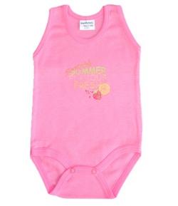 Bambibel ujjatlan body sötét rózsaszín SUMMER FLAVOUR FRESH 56-os