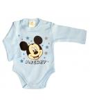 Disney Mickey v.kék hosszú ujjú kombidressz 56-os