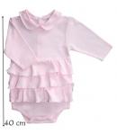 F.S. Baby hosszú ujjú pamut body - Fodros 68-as