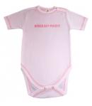 Babys Wear rövid ujjú, vállon patentos body feliratos 98-as
