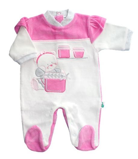 F.S. Baby hosszú ujjú plüss lábfejes rugdalózó hosszú ujjú plüss lábfejes rugdalózó