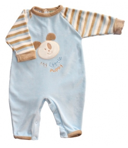 F.S. Baby hosszú ujjú plüss lábfej nélküli rugdalózó 56-os