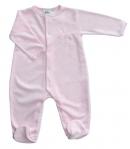 F.S. Baby hosszú ujjú plüss lábfejes rugdalózó 68-as
