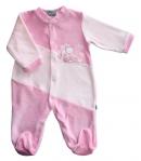 F.S. Baby hosszú ujjú plüss lábfejes rugdalózó 62-es