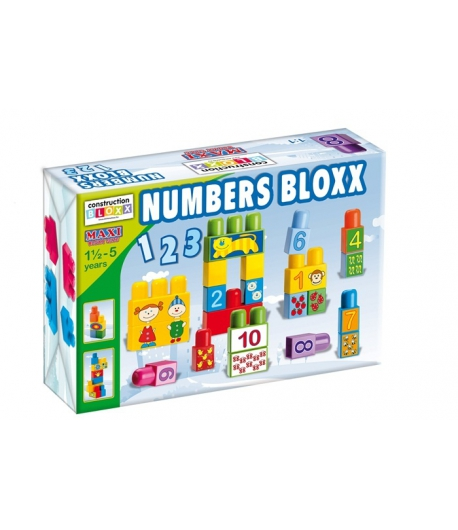 680 Maxi Blocks Number Blocks Építőjáték