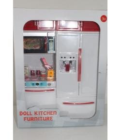 Barbie játék konyha piros